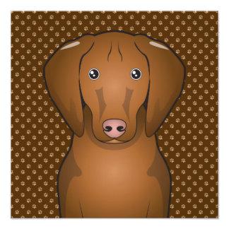 Vizsla Dog Cartoon Paws Photo Art