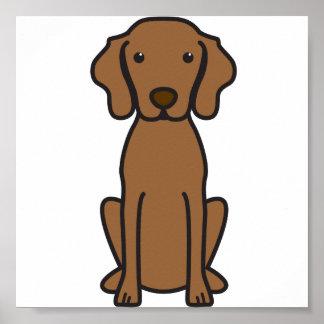 Vizsla Dog Cartoon Poster