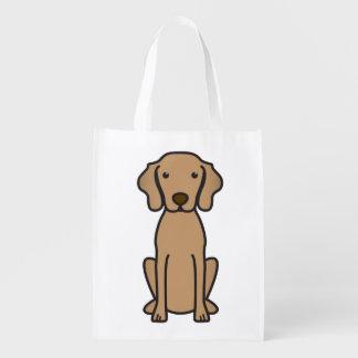 Vizsla Dog Cartoon Reusable Grocery Bag