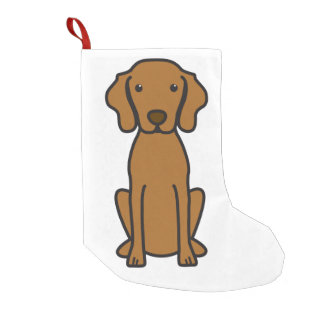 Vizsla Dog Cartoon Small Christmas Stocking