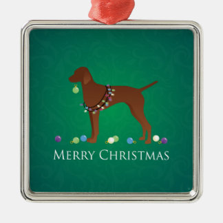 Vizsla Dog Merry Christmas Design Christmas Ornament