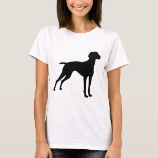Vizsla Dog Silhouette (black) T-Shirt