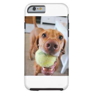 Vizsla Dog With Ball In Mouth iPhone Case
