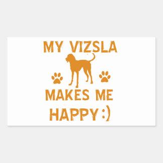 vizsla  gift items rectangular sticker