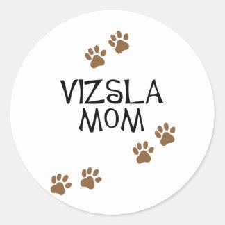 Vizsla Mom Classic Round Sticker