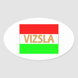 vizsla name on Hungary-Flag.jpg Oval Sticker