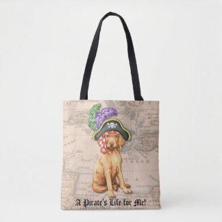 Vizsla Pirate Tote Bag