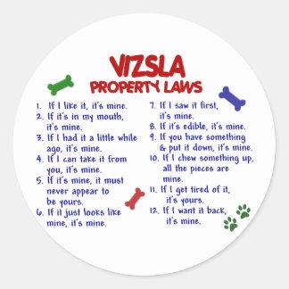 VIZSLA Property Laws 2 Classic Round Sticker