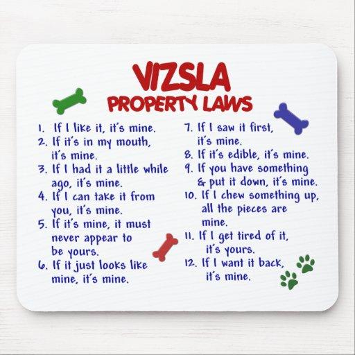 VIZSLA Property Laws 2 Mouse Mat