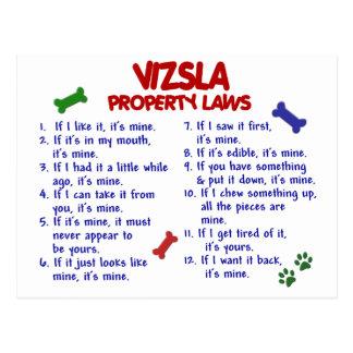VIZSLA Property Laws 2 Postcard