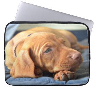 Vizsla Puppy Resting On Its Paw Laptop Sleeve