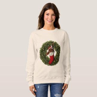Vizsla Puppy Wreath Sweatshirt