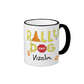 Vizsla Rally Dog Coffee Mugs