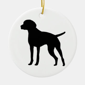 Vizsla Round Ceramic Decoration