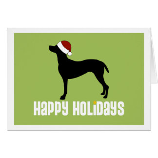 Vizsla Santa Hat Card