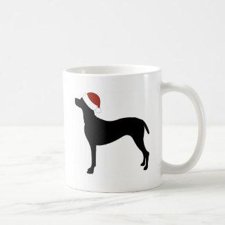 Vizsla Santa Hat Coffee Mugs