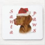 Vizsla Santa Paws Mouse Mats