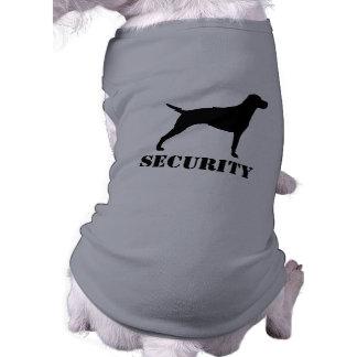 Vizsla Silhouette with Text Sleeveless Dog Shirt