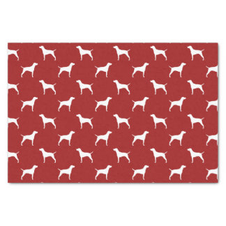 Vizsla Silhouettes Pattern Red Tissue Paper