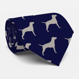 Vizsla Silhouettes Pattern Tie