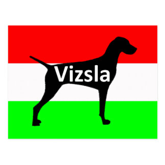 vizsla silo name on Hungary-Flag.png Postcard