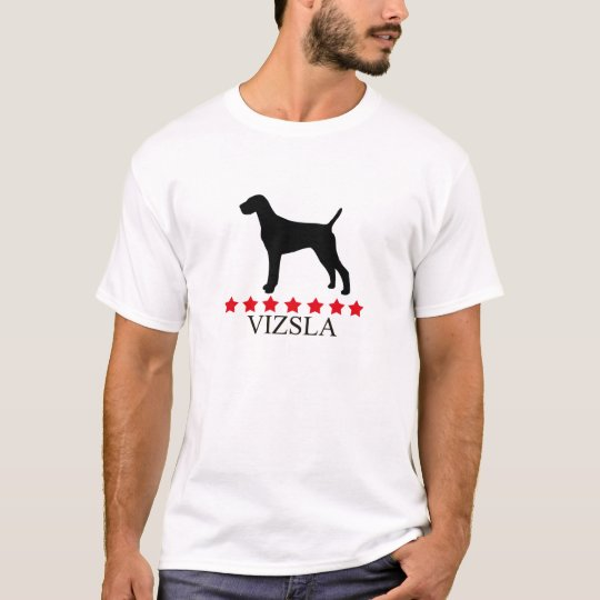 Vizsla T-shirt with Red Stars