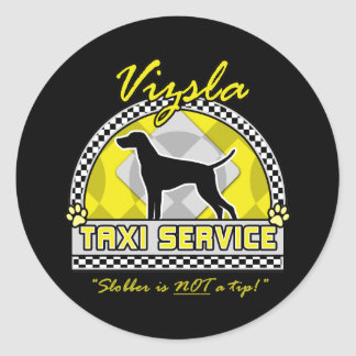 Vizsla Taxi Service Classic Round Sticker