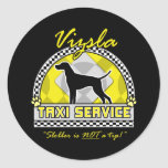 Vizsla Taxi Service Round Stickers