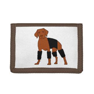 Vizsla The Velcro Dog Tri-fold Wallets
