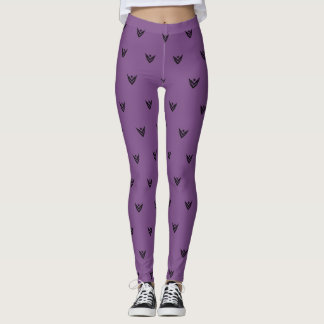 VJ Womens Leggings- Purple Leggings