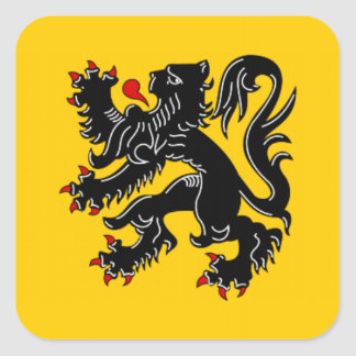 Vlaanderen (Flanders) Square Sticker