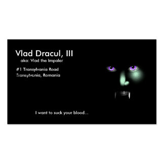 Vlad Dracul s business card