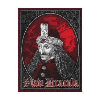 Vlad Dracula Gothic Stretched Canvas Print