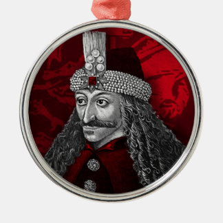Vlad Dracula Gothic Silver-Colored Round Decoration