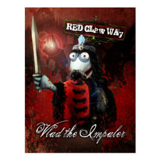 Vlad the Impaler Sock Puppet Postcard