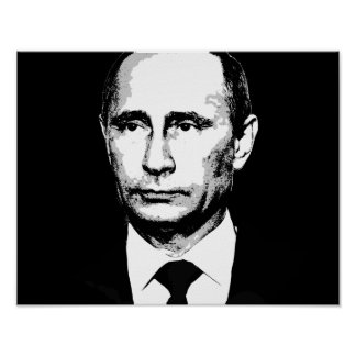 Vladamir Putin Face Poster