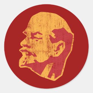 vladimir lenin cccp portrait round sticker