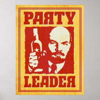 Vladimir Lenin - Satirical Bolshevik Party Poster