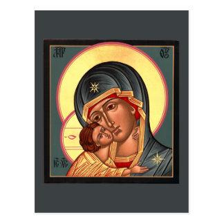 Vladimir Mother of God Prayer Card Postcard