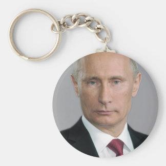 Vladimir Putin Gear Basic Round Button Key Ring