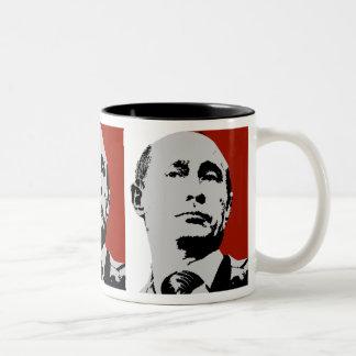 Vladimir Putin on Red Two-Tone Mug