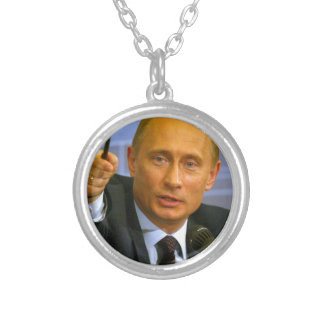 Vladimir Putin wants to give that man a cookie! Round Pendant Necklace
