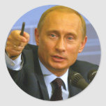 Vladimir Putin wants to give that man a cookie! Round Sticker