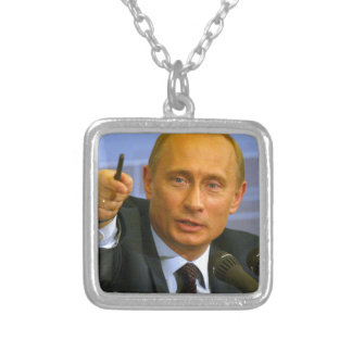 Vladimir Putin wants to give that man a cookie! Square Pendant Necklace