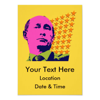 Vladimir Putin with Stars 13 Cm X 18 Cm Invitation Card