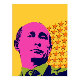Vladimir Putin with Stars Postcard