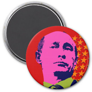 Vladimir Putin with Stars Refrigerator Magnet