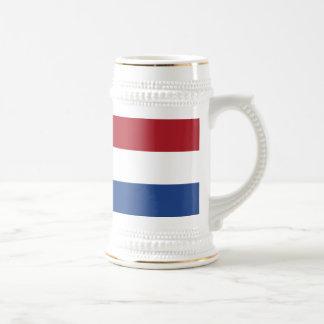Vlag van Nederland - Flag of the Netherlands Beer Stein