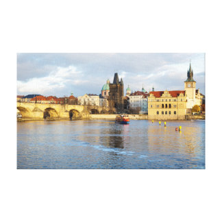 Vlatva River Prague souvenir photo Canvas Print