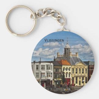 Vlissingen 01 basic round button key ring